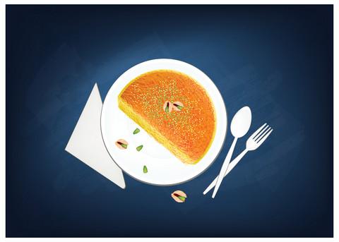 Arabische / nahöstliche Süßspeise: Kanafah